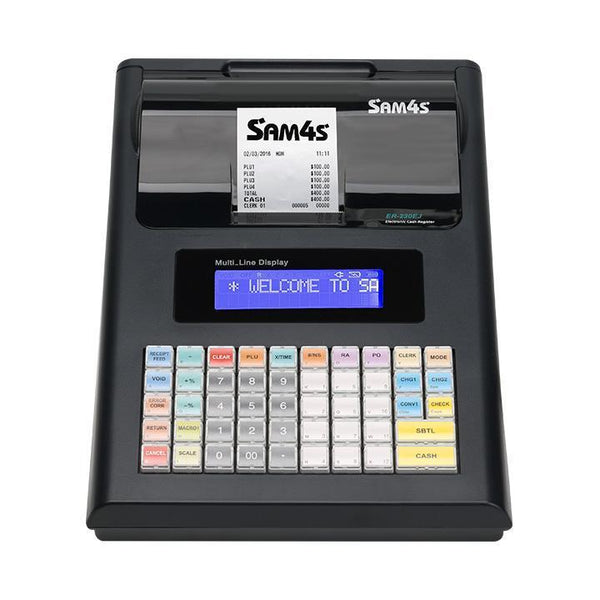 SAM4S ER-230EJ Portable Cash Register black with Rechargable Battery - Easypos Point of Sale Systems