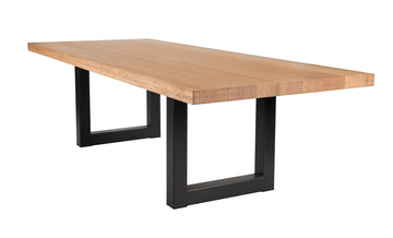 Que Table 2 - with U-Iron Base (90x90)
