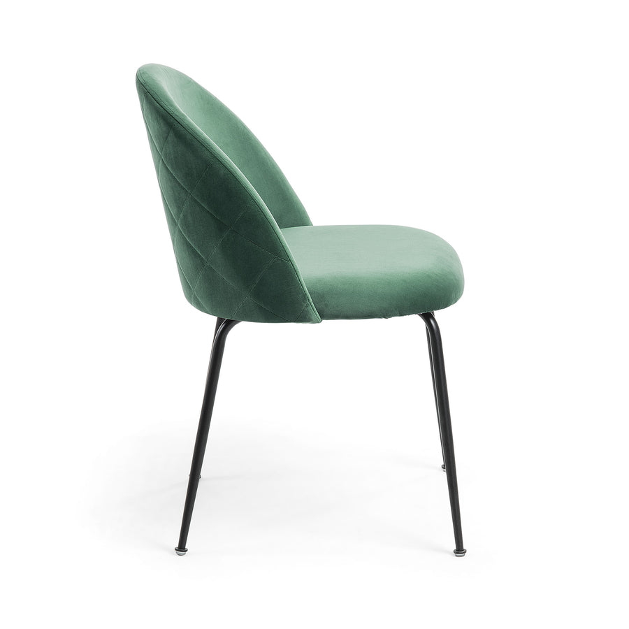 Mystere Dining Chair with Black Leg
