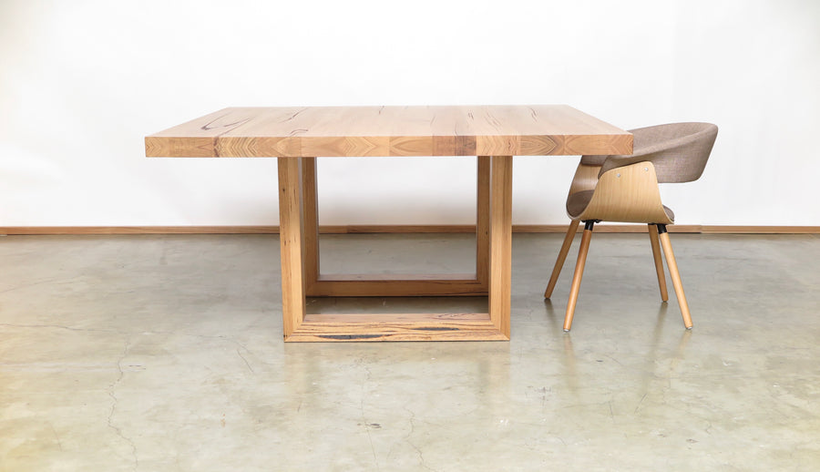 Que Square Table with U-Timber Leg