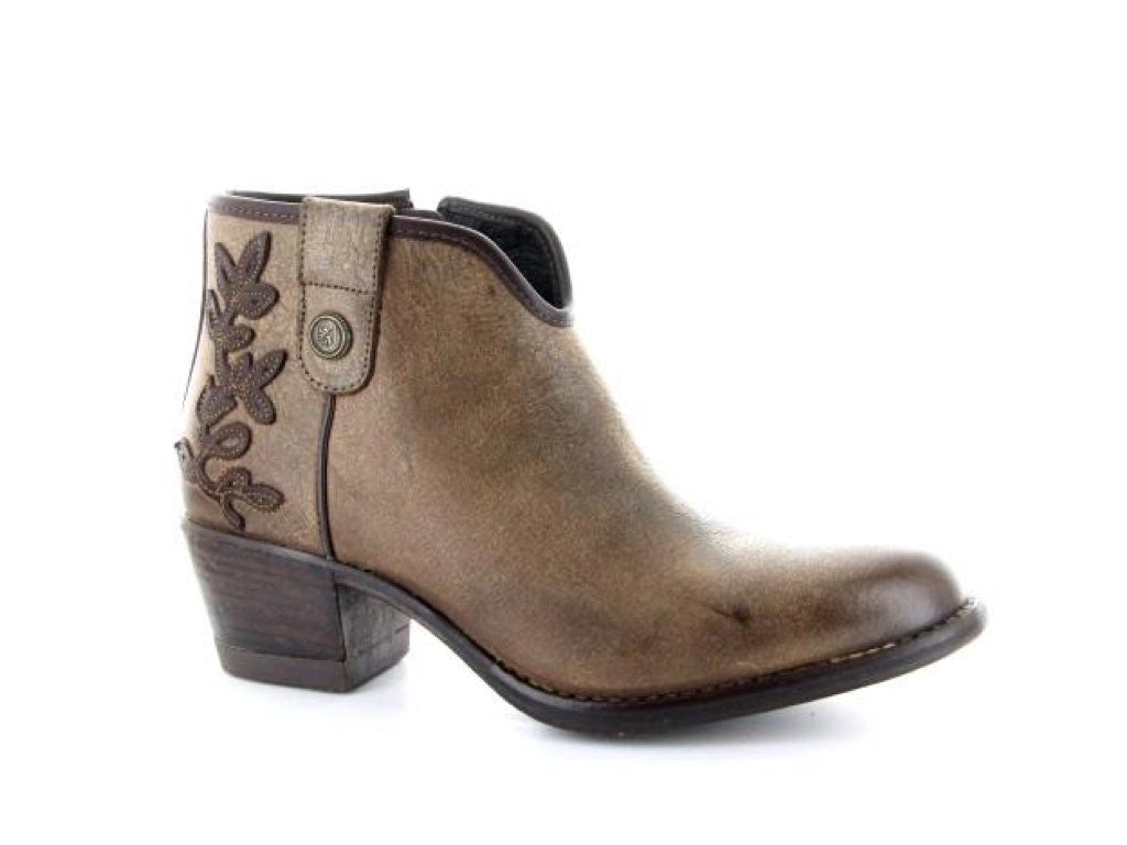 Western booties color cafe style filis