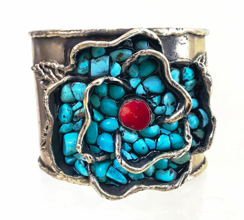 Barbosa Turquoise Chips Cuff