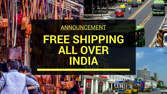 Free International Shipping to India