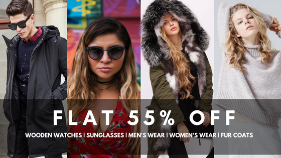 Store Unisex - Discounts on Wooden Watches, Sunglasses, Seasonal Wear and Fur Coats.
