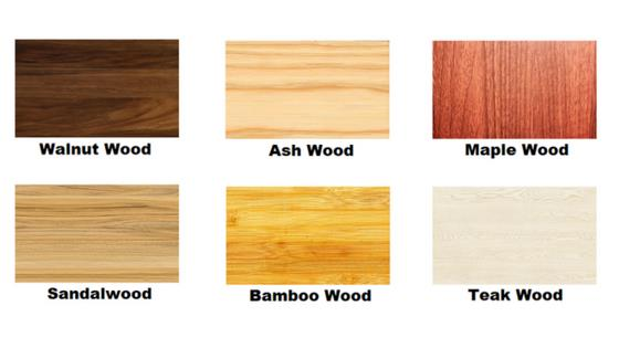 Types of wood used in the making of a watch