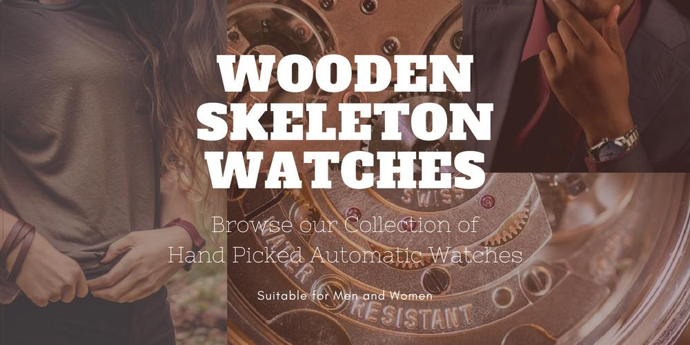 Wooden Skeleton Watches