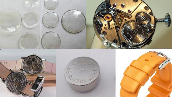 Different parts of Watches