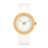 Bianca Gold | White Wooden Watch for Ladies