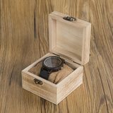 Black watch comes in a wooden box
