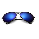 Classic Dark Metal Frame Aviator Sunglasses