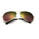 Classic Gold Metal Frame Aviator Sunglasses