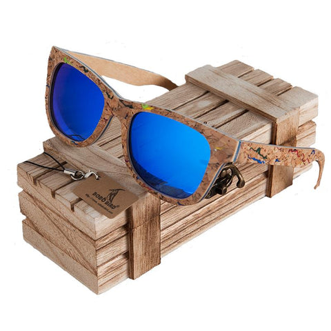 Chipped Wooden Wayfarer Sunglasses