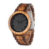 Wooden Watch Black in Cocoa Walnut