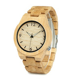 Bamboo Watch with Wooden Band