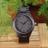 Black Sandalwood Watch for Men | Wooden Strap