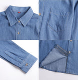 Blue Jeans Shirt for Girls