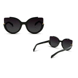 Designer Corner Cut Cat Eye Sunglasses