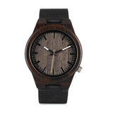 Front face of the Ebony wood watch for men
