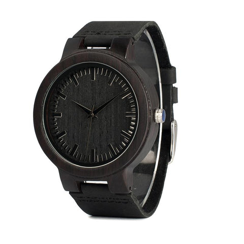 Ebony Wooden Watch Black Edition for Men