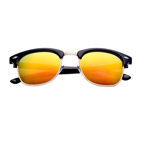Mirrored in Gold Clubmaster Sunglasses