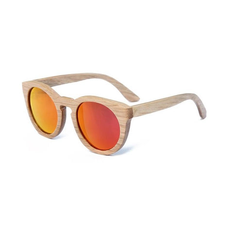 Light Wood Cat Eye Sunglasses