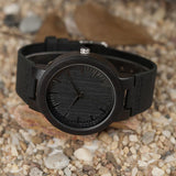 Mens Wooden Watch in Black B-13