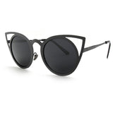 Metal Crafted Cat Eye Sunglasses