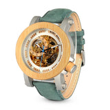 Nevada Bamboo Automatic skeleton watch