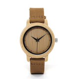 womens wooden watch front face