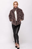 Rex Rabbit fur coat with two hand pockets