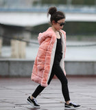 Pink Rabbit Fur Coat for Toddlers