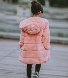 Rabbit Fur | Hooded Coat for Kids
