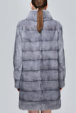 Back Side Image of Grey Mink Fur Coat