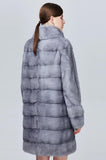 Right Side View of Ladies Fur Coat