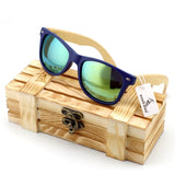 Rhino Mirrored Wooden Wayfarer Sunglasses