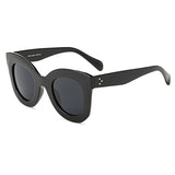 Rivet Thick & Bold Cat Eye Sunglasses