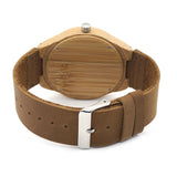 Sand Dune Wooden watch with brown leather strap