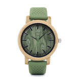 green silicone band watch front face
