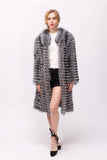 Single Breasted real fox fur jacket
