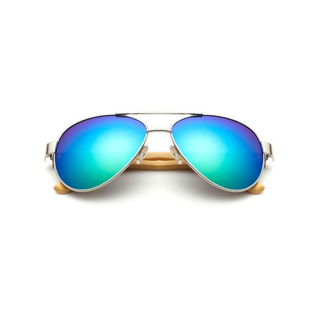 Mirrored Wooden Aviators