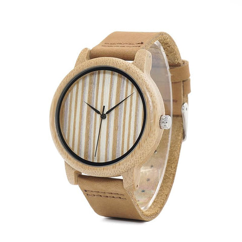 Striped Ladies Wooden Watches