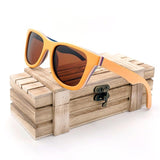 Texas Rose Wooden Wayfarer Sunglasses