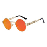 Round Style Metal Spring Frame Sunglasses