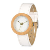 White Wooden Watch for Ladies - Bianca Gold
