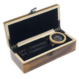 Wooden Skeleton Watch in Wooden Box