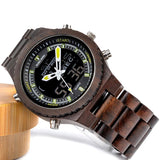 Dual Display Watch made of wood