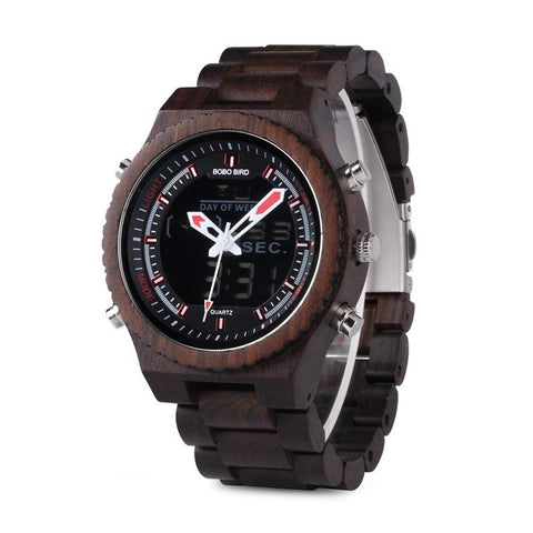 X Dominator Military Wooden Watch