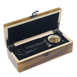 Watch getting delivered in wooden case from Store Unisex