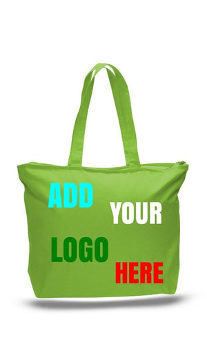 Custom Zipper tote Bag