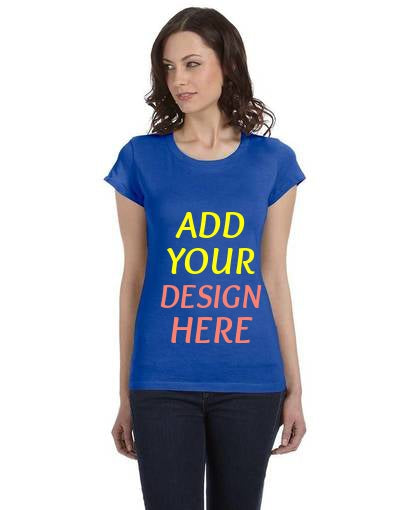 Custom Ladies' Sheer Jersey Short-Sleeve T‑Shirt Bella + Canvas
